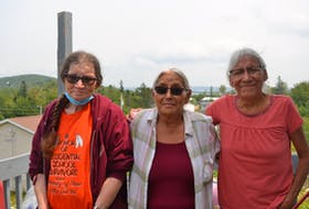 Rose Prosper, 67, and sisters Rosemary (Ducy) Paul, 65, and Freda Paul, 63, attended Shubenacadie Indian Residential School together in the 1960s and have been a support system for each other all their lives as they heal from their experiences there. They were all deeply affected by the recovery of the remains of 215 children at the former Kamloops Indian Residential School in British Columbia and hope no one forgets those children and the thousands of victims and survivors across the country. ARDELLE REYNOLDS/CAPE BRETON POST