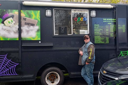Kirk Jones is the owner of The Boneyard food truck in Antigonish. Jones is well known for his wild and wonderful mouth-watering hotdog and hamburger creations.