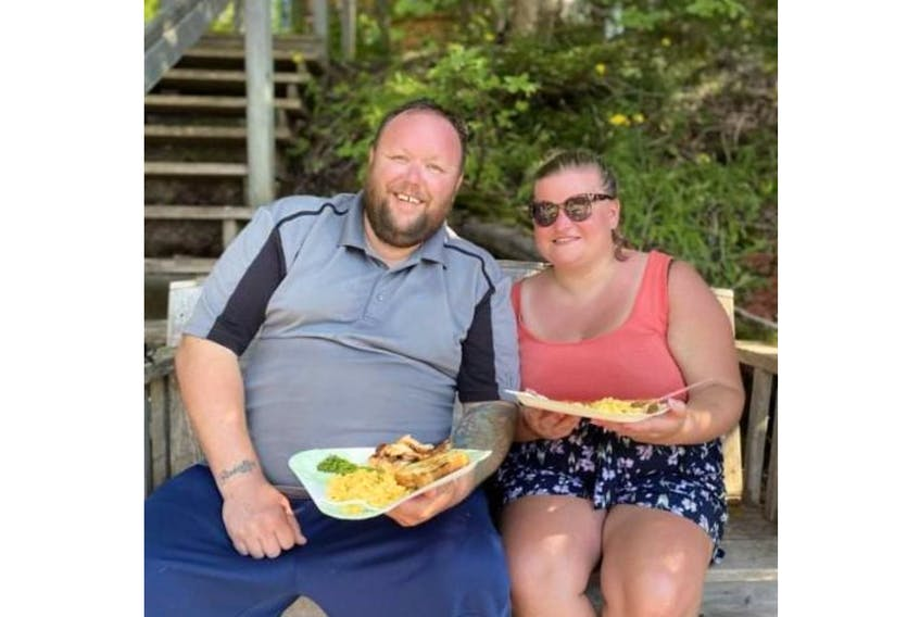 Corner Brook couple Wayne Fitzpatrick and Nichola Park are thankful for their rescuers after they were thrown from their boat because of the reckless action of some personal watercraft users on the Humber River near Strawberry Hill on Aug. 14. - Contributed