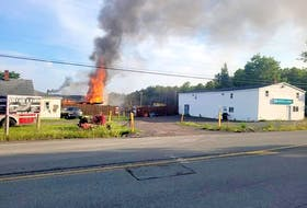 A fire Friday morning led to Seaview Drive in Gardiner Mines being closed both ways for a few hours. CONTRIBUTED
