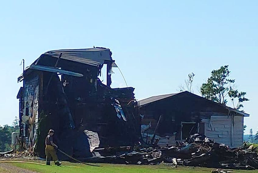 It took the Kensington fire department more than three hours to extinguish a fire that totalled a Norboro home on Thursday, Aug. 19.