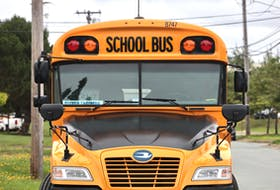A school bus at the Southland facility in Burnside Industrial Park Monday.