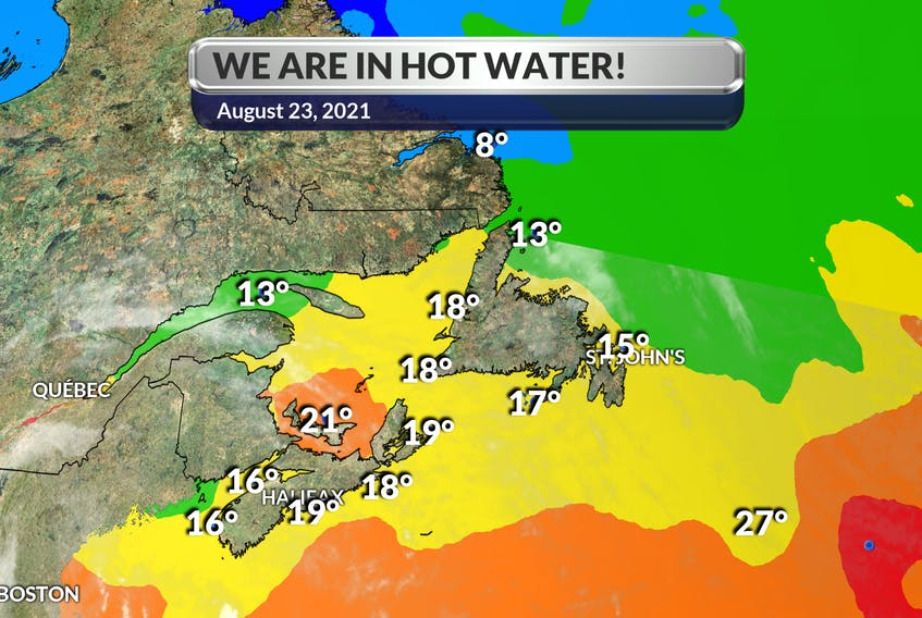 For several weeks, sea surface temperatures in the western North Atlantic Ocean have been unusually warm. The sea surface temperature (SST) departures continue to be generally above to well above average across the region.  - WSI