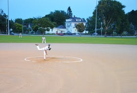 Gabe Penalver was the winning pitcher as the Capital District Islanders defeated the Summerside Toombs and MacDougall CPA Chevys 4-2 on Aug. 22 in Summerside.