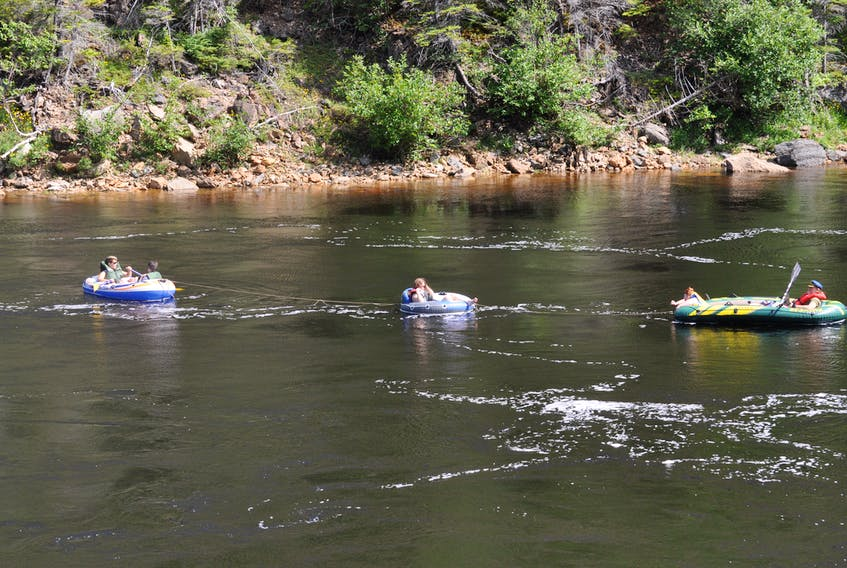 Floating on the Humber River is a popular pastime.