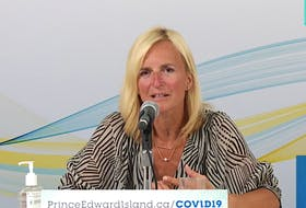 P.E.I.'s chief public health officer Dr. Heather Morrison announces one new case of COVID-19 on the Island during a scheduled briefing Aug. 24.