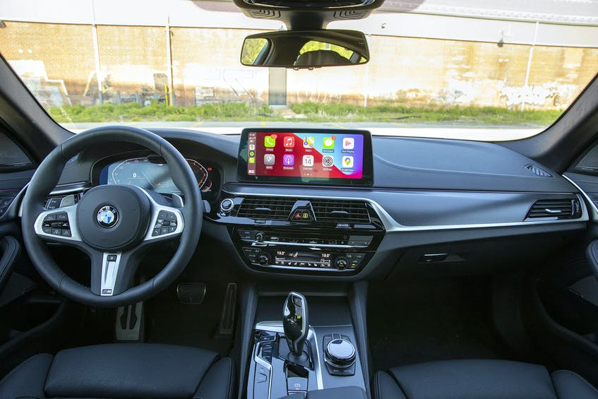 Commuting in the 2021 BMW 540i is serene, while the open road can provide some giggle-inducing thrust. Clayton Seams/Postmedia News - POSTMEDIA