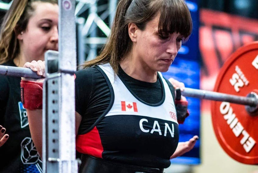 Melissa Garron Stone, Tusket, will be competing at the International Powerlifting Federation (IPF) World Classic Powerlifting Championships in Sweden as a member of Team Canada in September. She is ranked third in her division going into the competition. CONTRIBUTED