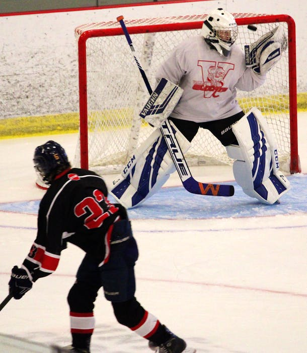 Connor Amero goes top corner to beat goalie Alex Hyland early in the second period. - Jason Malloy