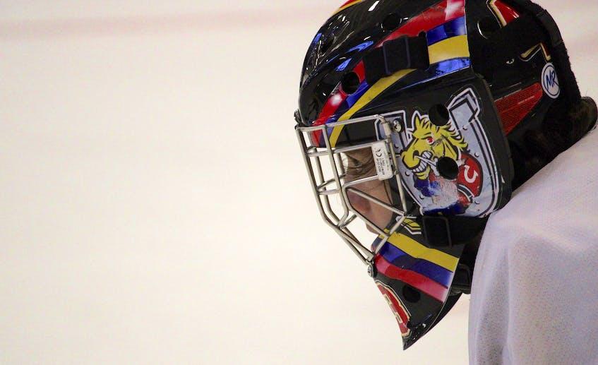 Goalie Crosby DePiero focuses on the play up ice. - Jason Malloy
