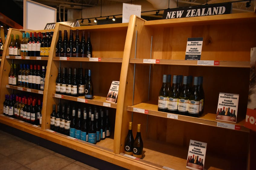 Worldwide shipping issues have caused shortages in stock at liquor stores across the province, leading to empty shelves, particularly products from New Zealand and Australia. - Michael Robar • The Guardian