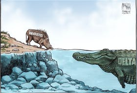 Bruce MacKinnon's editorial cartoon for August 28, 2021.