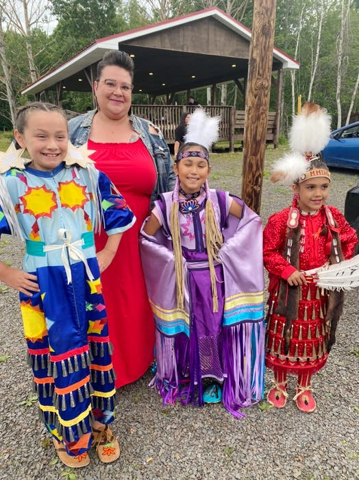 Singer Buffy MacNeil is seen here with dancers Meelan Prosper, Anjelica Boutilier and Shilo Pictou who appear in her new video for the song Somebody Pray, dedicated to generations of Indigenous children taken from their homes to attend residential schools. - Saltwire network
