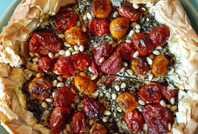 Enjoy the taste of fresh cherry tomatoes this summer by making this Blistered Tomato Galette.