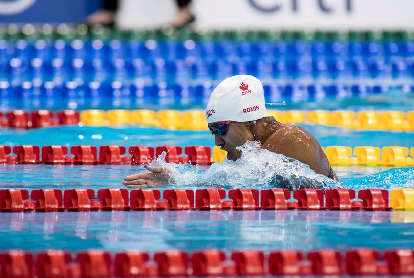 Roxon finished fourth in the 100-metre breaststroke, her first event in Tokyo. — Swimming Canada/Facebook