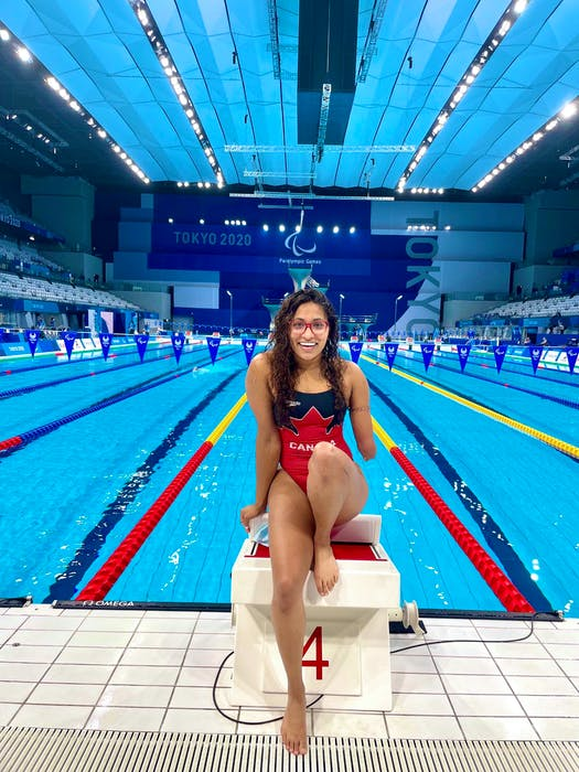 Still to come for Katarina Roxon at the Tokyo Paralympics: competition as part of the Canadian women's 4x100 freestyle relay team, thenin two individual events — the 100-metre freestyle and 200m medley relay —  Twitter/@Katarina_Roxon