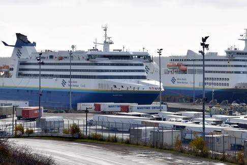 In this file photo, Marine Atlantic vessels are shown docked at the company's terminal in North Sydney. SaltWire File