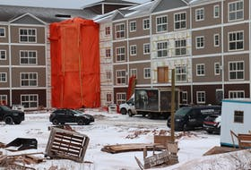 Construction at Geneva Place on Towers Road. While developers have increasingly focused on construction of rental housing since 2018, tenants are seeing significant rent increases.