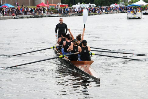 Royal St. John's Regatta 2019 women's champions Hyflodraulic Ltd. crew shortly after their victory. After missing out when COVID-19 cancelled the 2020 regatta, the crew will be back to defend their title — with a few personnel changes — at this year's event. — Telegram file photo