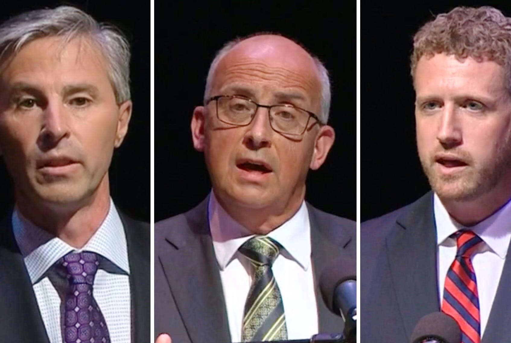 From left, Progressive Conservative leader Tim Houston, NDP leader Gary Burrill and Liberal leader Iain Rankin. - Contributed