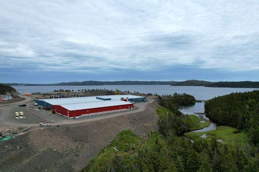 The Greig Seafoods Newfoundland salmon hatchery site at Marystown. - Contributed