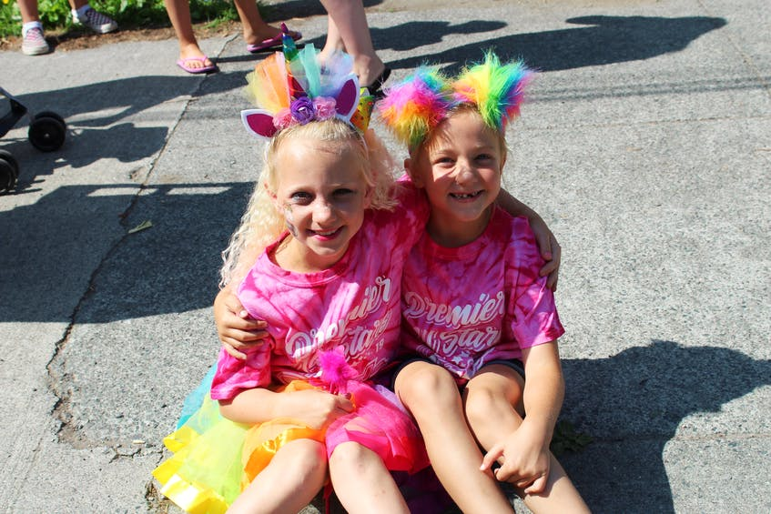 Beckie MacDonald, left, and Josie MacKinnon at the 2019 Pride parade in Sydney. CAPE BRETON POST FILE