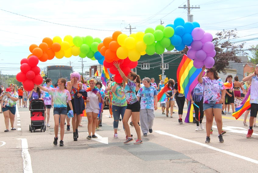 The 2018 Pride parade in Sydney. While the parade isn't happening this year there are many other ways to celebrate Pride. CAPE BRETON POST FILE