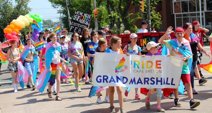 A large group of Cape Breton youth helped lead the way for the 19th annual Pride parade with a large mural marking the 50th anniversary of the Stonewall rebellion. CAPE BRETON POST FILE