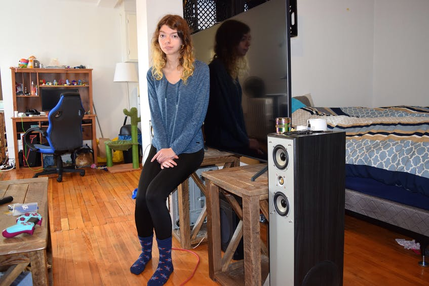 Hailey O'Day said she needs out of her Townsend Street apartment in Sydney due to mice and unsafe conditions but an extensive search for a place is turning up similar units or ones only being rented to a specific sector of tenants. It's opened her eyes to a serious housing problem in the Cape Breton Regional Municipality. Sharon Montgomery-Dupe/Cape Breton Post - Sharon Montgomery
