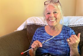 Linda Luker is formerly of Florence but now lives in Sydney Mines. She is thankful she has her knitting to help her through the difficult times.