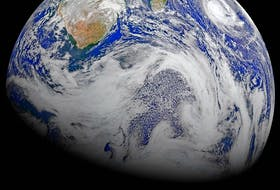 This composite image of southern Africa and the surrounding oceans was captured by six orbits of the NASA/NOAA Suomi National Polar-orbiting Partnership spacecraft on April 9, 2015. Most people know about ocean tides, but there is another kind of tide as well: an Earth Tide. - NASA