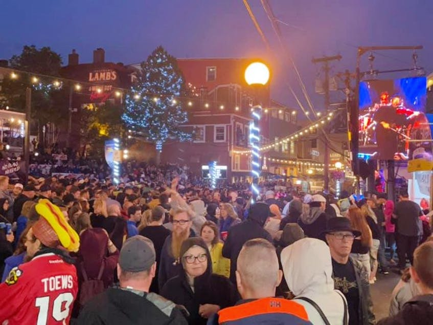 The large number of people at the George Street Festival this past weekend, with no signs of physical distancing, has drawn the ire of many online. - Photo via Twitter - Contributed