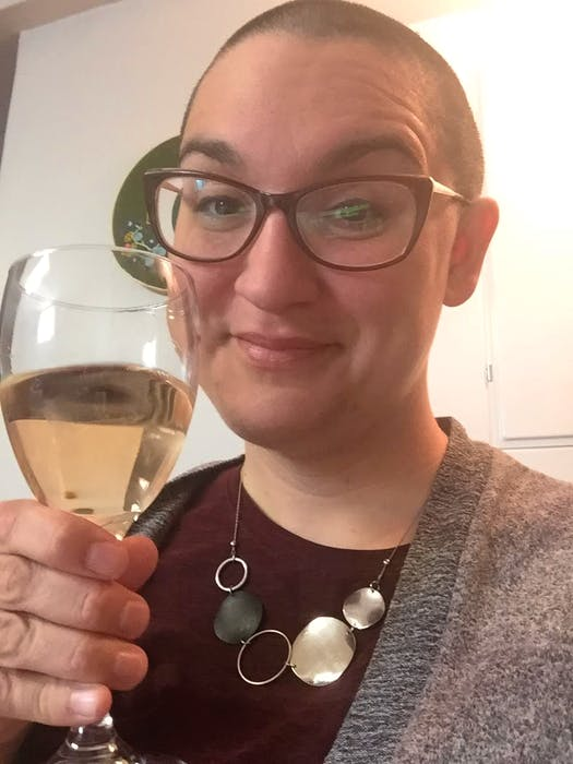 As part of her shift in spending priorities, Leah Noble ditched haircuts - instead opting to do something she'd always thought about and shave her head. - Contributed