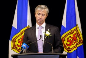 Tim Houston is seen during his first news conference as premier, following a swearing-in ceremony for him and his cabinet, at the Halifax Convention Centre on Tuesday, Aug. 31, 2021.  TIM KROCHAK PHOTO
