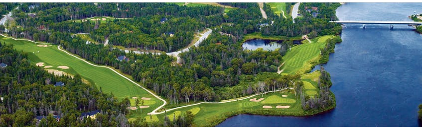 An aerial view of the Humber Valley course. — Humber Valley Resort