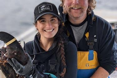 Eastern Passage fisherman Justin Stewart and his wife, Jaime Wertman, aboard their fishing boat.