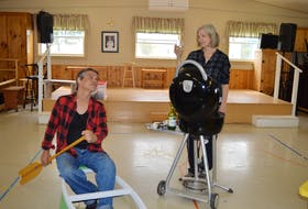 Actors Gordon Patrick White, left, and Jan Rudd are shown in a scene in Cottagers and Indians, a play that will show at the Watermark Theatre in North Rustico, P.E.I., Aug. 10-28.