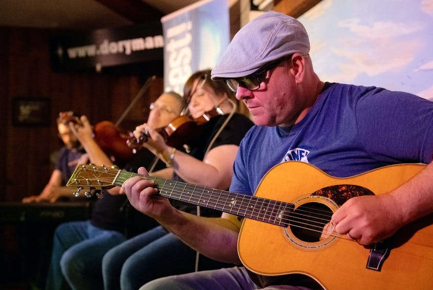 From left to right, Mac Morin, Neil Beaton, Shelly Campbell and Patrick Gillis perform at the Doryman Pub and Grill in Cheticamp during KitchenFest! 2019. KitchenFest returns for its eighth year Aug. 27-Sept. 4. Contributed