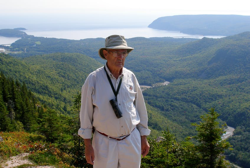 The late Sinclair MacDougall, age 74, at the top of Cape Breton's Franey Mountain in 2006. Contributed • Paul MacDougall