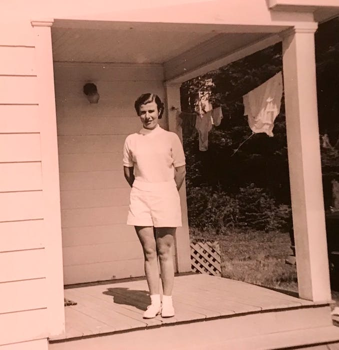 Gloria MacDougall at the Highland Bungalows in Ingonish in the 1950s. CONTRIBUTED
