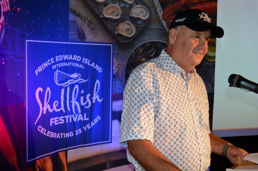 Liam Dolan unveils details on Aug. 5 of the 2021 P.E.I. International Shellfish Festival in Charlottetown. - Dave Stewart