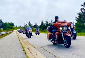 The Rolling Barrage, a rolling (PTSD) support group, roared into Yarmouth on Aug. 2 CARLA ALLEN • TRI-COUNTY VANGUARD