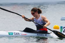 Nova Scotia's Michelle Russell in action for Canada at the Olympics in Tokyo.
