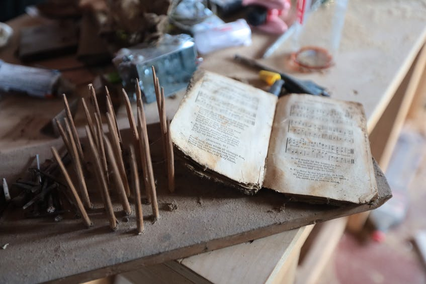 Some of the artifacts found in the walls and floors of a formerly abandoned house in Springfield. - Eric Wynne
