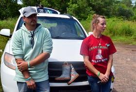 Dylan's parents, Jason Ehler and Ashley Brown.
