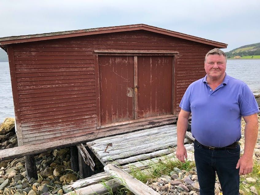 It all started right here. When he first started selling fish door to door Dan Meade would spend evenings in this fishing stage, owned by his uncle, splitting and bagging cod fillets for customers. - Barb Dean-Simmons