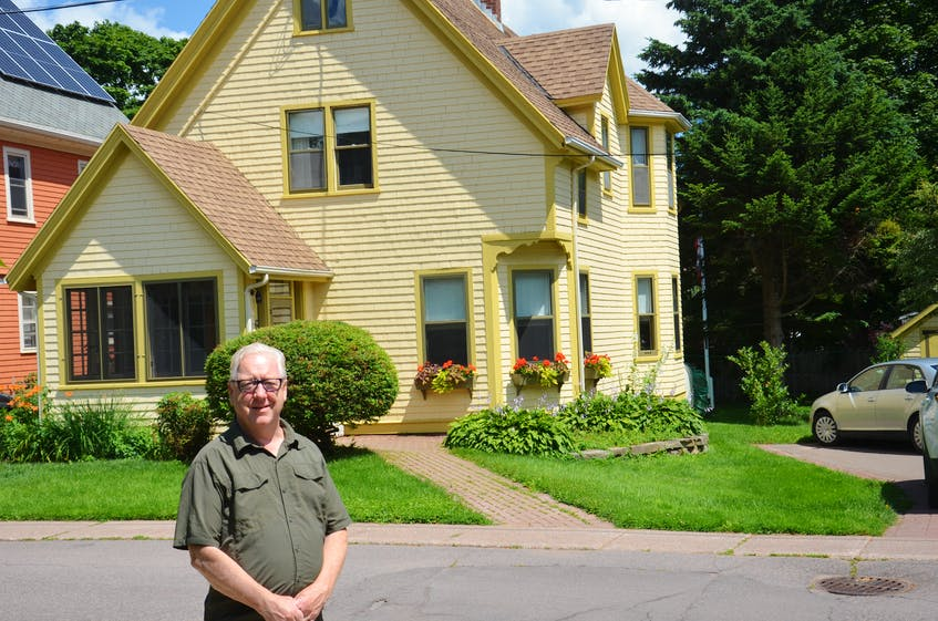 Ken McInnis stands in front of his home at 6 Ambrose St. in Charlottetown. Former Olympian Phil MacDonald, who represented Canada in the 400-metre hurdles in 1924 in Paris, grew up in that house. - Jason Simmonds