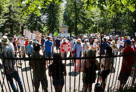 Protesters filled Victoria Park in downtown Halifax on Saturday, Aug. 7, 2021, in a rally against the sale of the former Owls Head park reserve - John McPhee