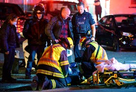One woman was taken to hospital Saturday night following a motorcycle crash in Conception Bay South. Keith Gosse/The Telegram