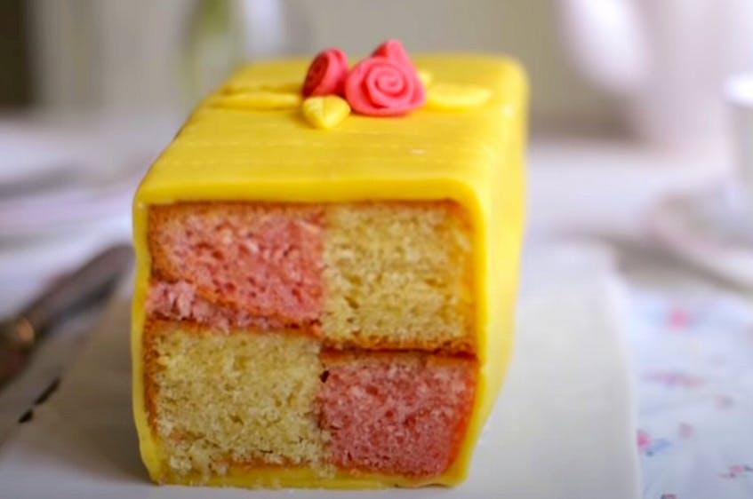 Battenberg cake — YouTube screengrab/Co-op